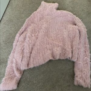 American Eagle Cropped Turtleneck Sweater